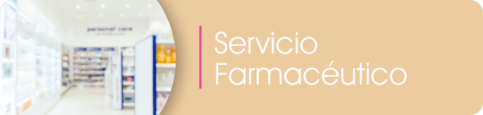 Banner Servicio Farmacéutico